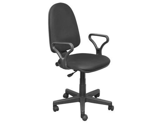Кресло офисное Prestige черное ткань/пластик - (19183К)