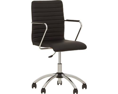 Кресло для руководителя Task GTP черное экокожа/металл - (468752К)