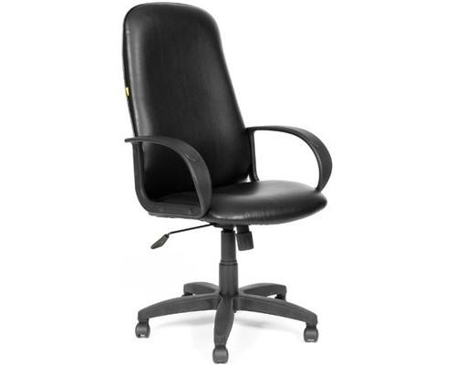 Кресло для руководителя Chairman 279 черное искусственная кожа/пластик - (81118К)