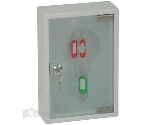 Шкаф для ключей Office-Force 20084 серый на 20 ключей металл/стекло - (198486К)