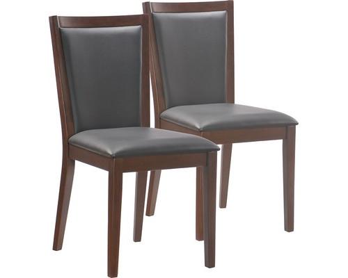 Конференц-стул Easy Chair 423 KPU черный искусственная кожа/темный орех 2 штуки в упаковке - (325296К)