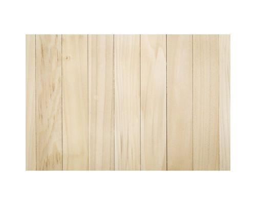 Коврик напольный для твердых покрытий с рисунком светлое дерево поликарбонат 90x120 см - (557713К)