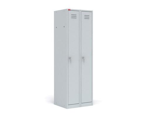 Шкаф для одежды металлический ШРМ22М 2 отделения 600x500x1860 мм - (34394К)