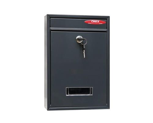 Ящик почтовый Onix ЯК 1 1-секционный металлический серый 215 x 85 x 320 мм - (353999К)