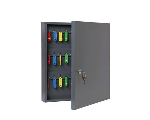 Шкаф для ключей Onix К-60 темно-серый на 60 ключей металлический - (604473К)