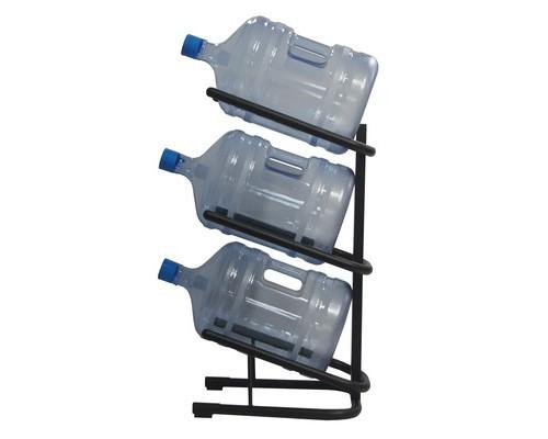 Стеллаж для воды Бридж-3 на 3 тары черный 370x450x840 мм - (405880К)