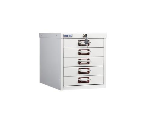 Шкаф Практик MDC-315/5 серый 5 ящиков - (544525К)