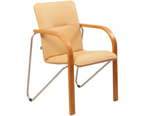 Конференц-стул Salsa silver бежевый искусственная кожа/орех/металл серебристый - (244445К)