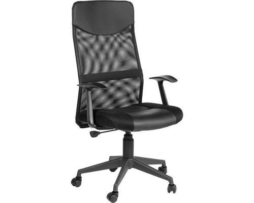 Кресло для руководителя Easy Chair 631 TTW черное ткань/искусственная кожа/сетка/пластик - (452455К)