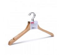 Вешалка-плечики деревянная Attache с выемками светло-коричневая размер 46 3 штуки в упаковке - (280402К)