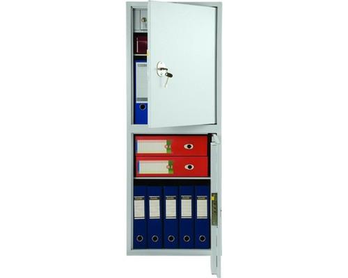Шкаф бухгалтерский металлический Практик SL-125/2T 2 отделения трейзер 460x340x1252 мм - (98554К)