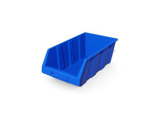 Ящик пластиковый ДиКом серия А синий 230x400x150 мм 4 штуки в упаковке - (524176К)