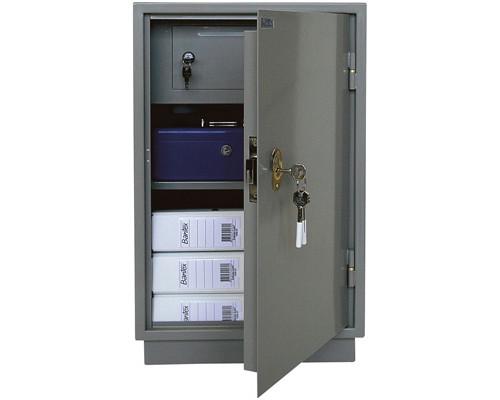 Шкаф бухгалтерский металлический КБС 012т трейзер ключевой замок 420x350x660 мм - (125686К)