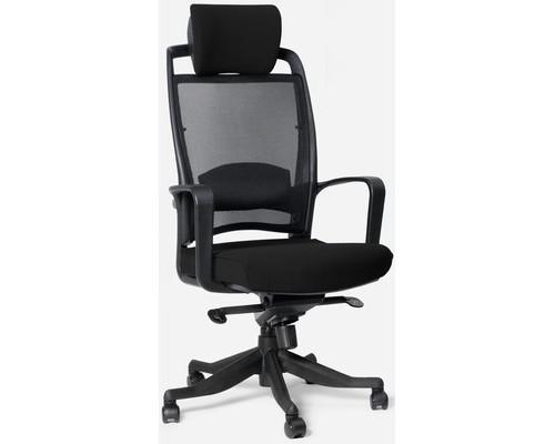 Кресло для руководителя Chairman 283 черное ткань/сетка/пластик - (378277К)