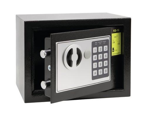 Сейф мебельный Onix KS-16 черный электронный замок - (529376К)