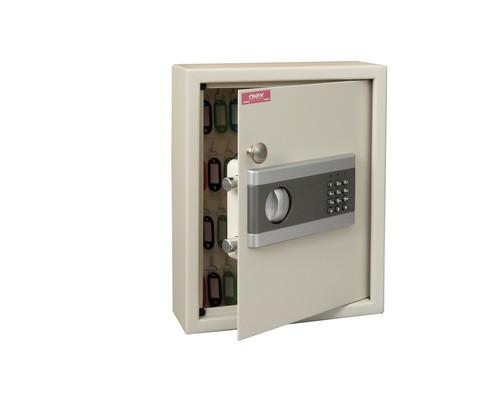 Шкаф для ключей Onix КЕ 48 с кодовым замком стальной на 48 ключей металлический - (194408К)
