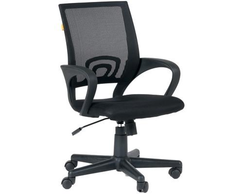 Кресло офисное Easy Chair 304 черное ткань/сетка/пластик - (329252К)
