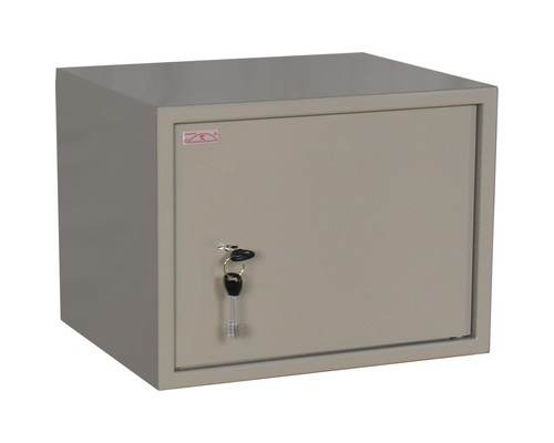 Шкаф бухгалтерский металлический КБС 02 ключевой замок 420x350x320 мм - (125685К)