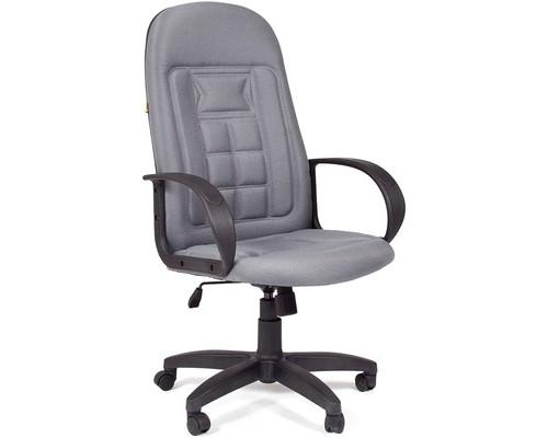 Кресло для руководителя Chairman 727 светло-серое ткань/пластик - (140863К)