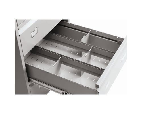Разделитель поперечный Практик для картотеки AFC-06/3 металл 12 штук - (243397К)