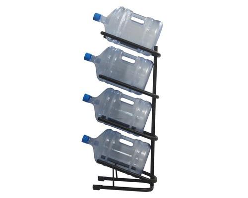 Стеллаж для воды Бридж-4 на 4 тары черный (370x450x1140 мм - (405881К)