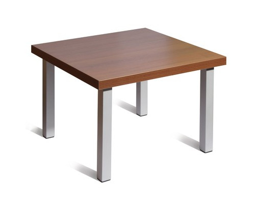 Стол журнальный Триада орех-алюминий 600x600x430 мм - (241483К)