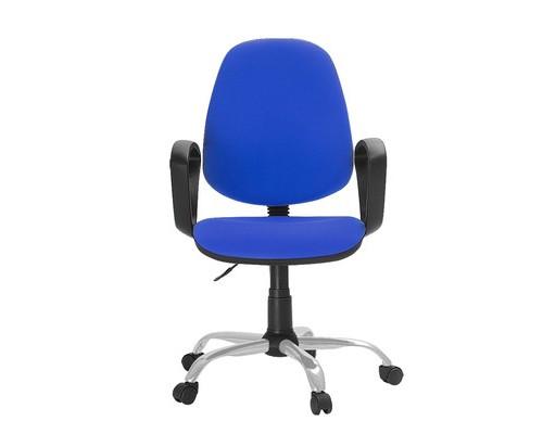 Кресло офисное Easy Chair 222 синее ткань/пластик/металл - (622256К)