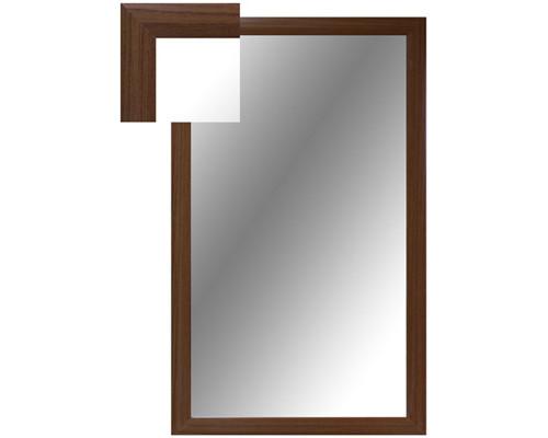 Зеркало настенное Attache 1000x600 мм орех - (252283К)