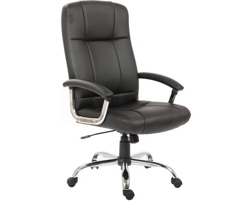 Кресло для руководителя Easy Chair 524 TPU черное искусственная кожа/металл - (299470К)