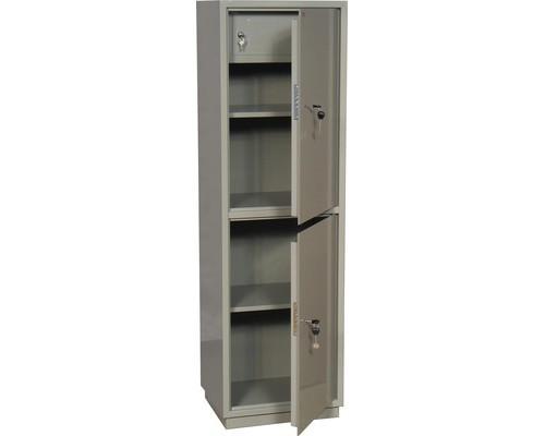 Шкаф бухгалтерский металлический КБC 032т 2 отделения трейзер ключевой замок 470x395x1560 мм - (178312К)