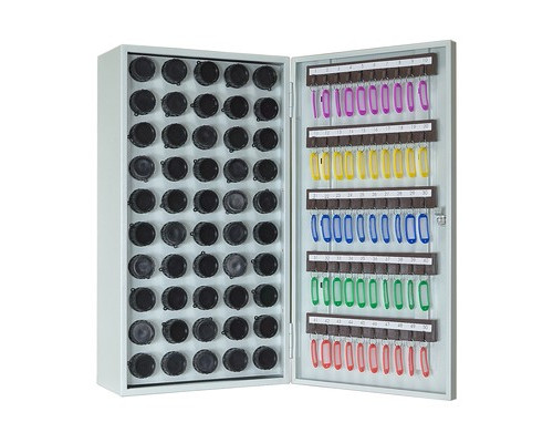 Пенальница Мн КЛ-50П светло-серая на 50 ключей металлическая - (410548К)