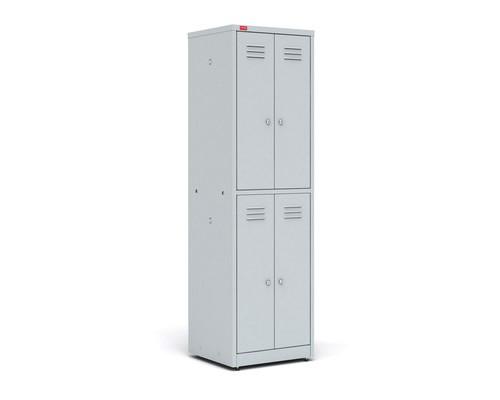 Шкаф для одежды металлический ШРМ24 4 отделения 600x500x1860 мм - (34396К)
