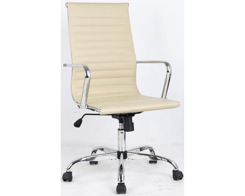 Кресло для руководителя Easy Chair 707 TPU бежевое искусственная кожа/металл - (481272К)