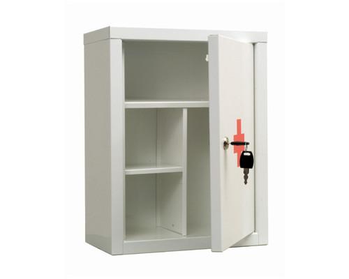 Метал.Мебель ПРАКТИК AMD-39 Аптечка белая, ключ.зам, 300х160х390