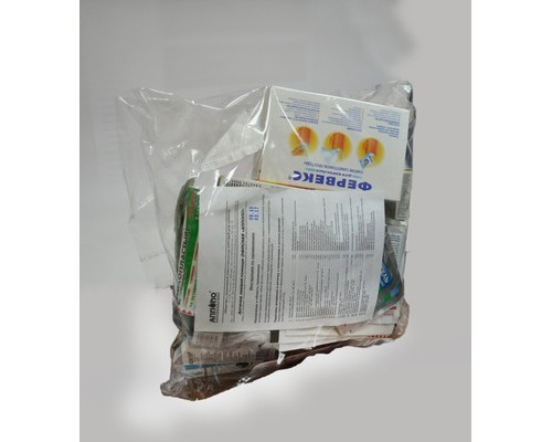 Расходный комплект к офисной аптечке (в пакете)