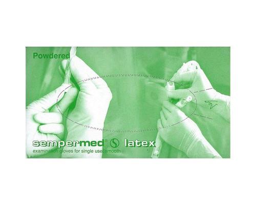 Мед.смотров. перчатки латекс., нестер., с пудрой, SEMPERMED (S) 50пар/уп