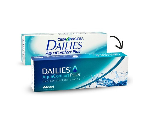 Контактные линзы Dailies Aqua Comfort Plus R:=8.7 D:=-1,00 30шт/уп