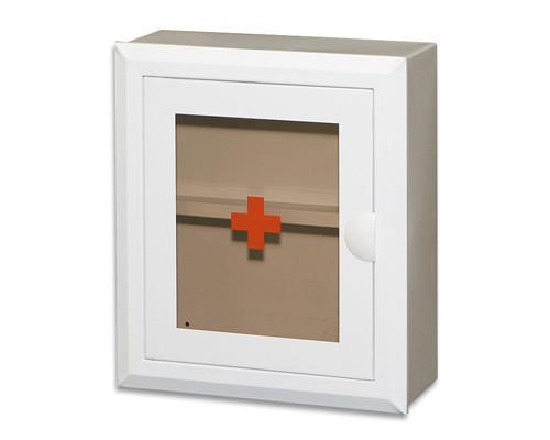 Метал.Мебель D_Аптечка со стекл.дверцей и полкой 350х400х140