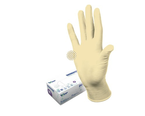 Мед.смотров. перчатки латекс., нестер., н/о, тек. Dermagrip Classic(L) 50 п