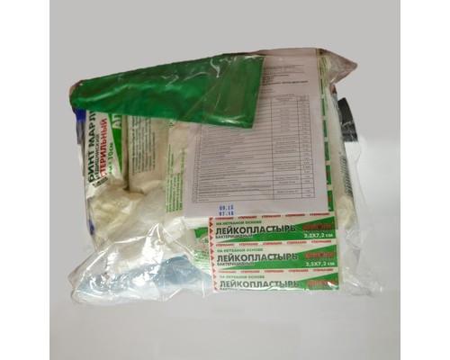 Расходный комплект к аптечке первой помощи работникам по пр.№169 (в пакете)