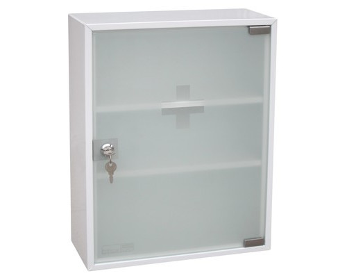 Метал.Мебель OfficeForce Аптечка со стеклянной дверцей, 20097, 360х150х45