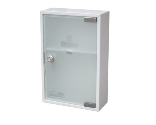 Метал.Мебель Office-Force Аптечка20096 стекл.дверь,215х80х320