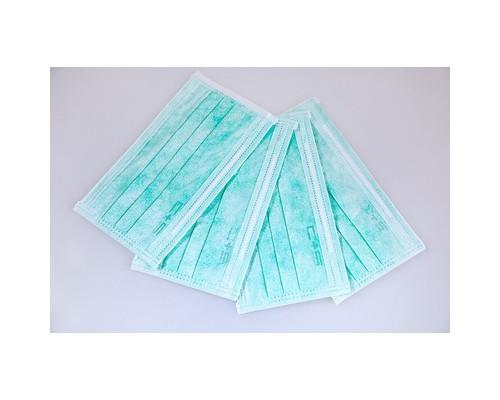 Маска медицинская 3-х слойная Clean+Safe голубая, картон, 50 штук в упак