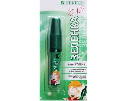 Гемостатические губки Леккер-Бриллиантовый Зеленый р-р спирт 1%, 5 мл.