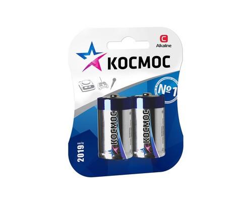 Батарейки Космос средние C LR14 2 штуки в упаковке - (379915К)