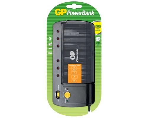 Универсальное зарядное устройство GP PB320GS-CR1 для всех типов аккумуляторов - (331579К)