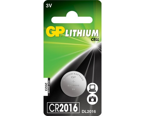 Батарейка GP таблетка CR2016 - (216800К)