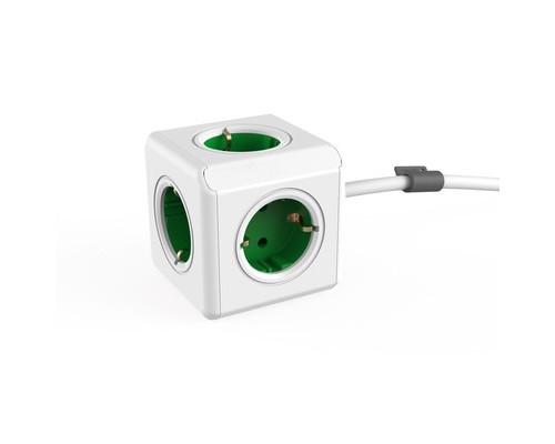 Разветвитель Allocacoc Extended 5 розеток красный кабель 1.5 м зеленый - (664742К)