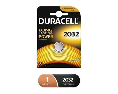 Батарейка Duracell таблетка CR2032 - (349353К)