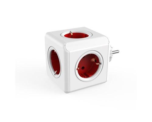 Разветвитель Allocacoc Original 5 розеток красный - (664730К)
